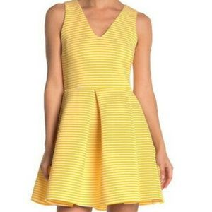 Love...Ady white and yellow skater dress size M